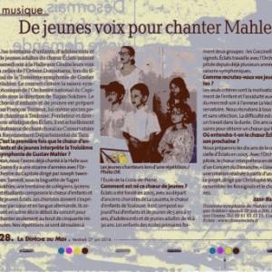 Depeche du Midi Mahler 2014
