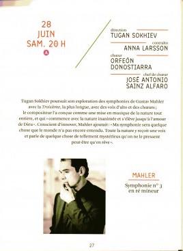 3eme symphonie Mahler ONCT